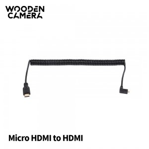 WC Coiled Right Angle Micro HDMI to Full HDMI (20